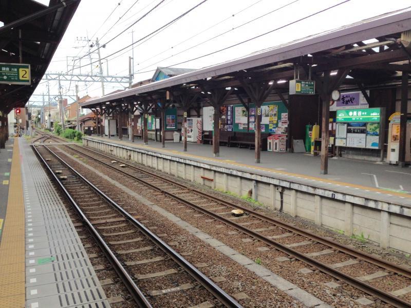 江ノ電長谷駅鎌倉駅側風景
