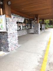 「上高地」バス停留所