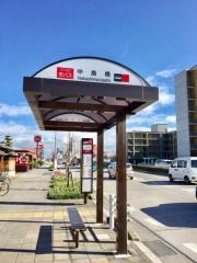 「中島橋」バス停留所