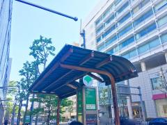 「広尾橋」バス停留所