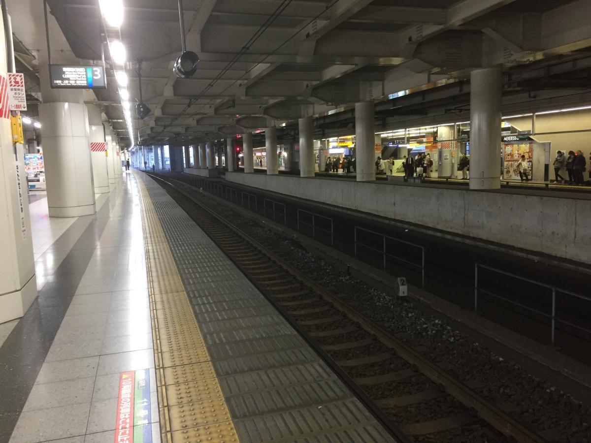 北千住駅のホーム
