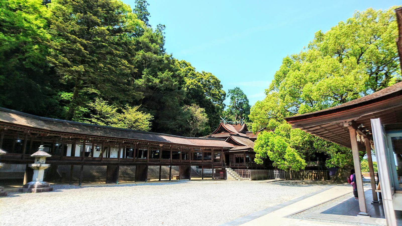本殿と回廊