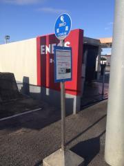 「里道」バス停留所