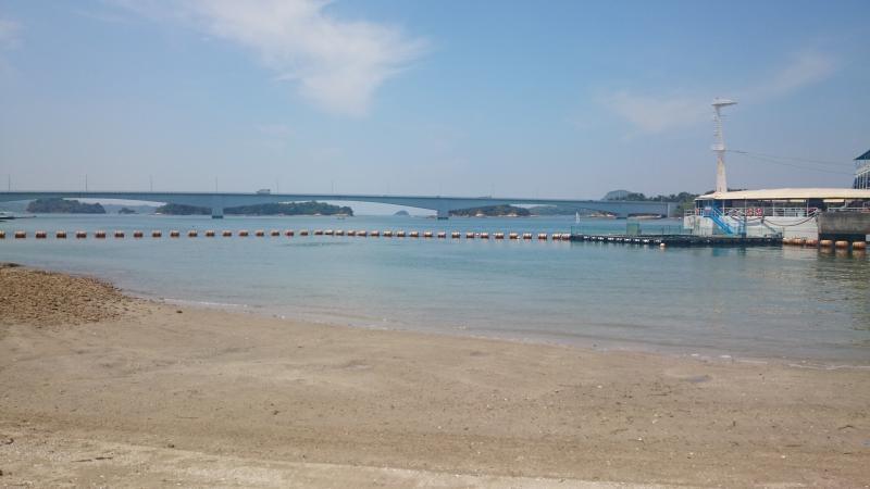 海と一体化♪