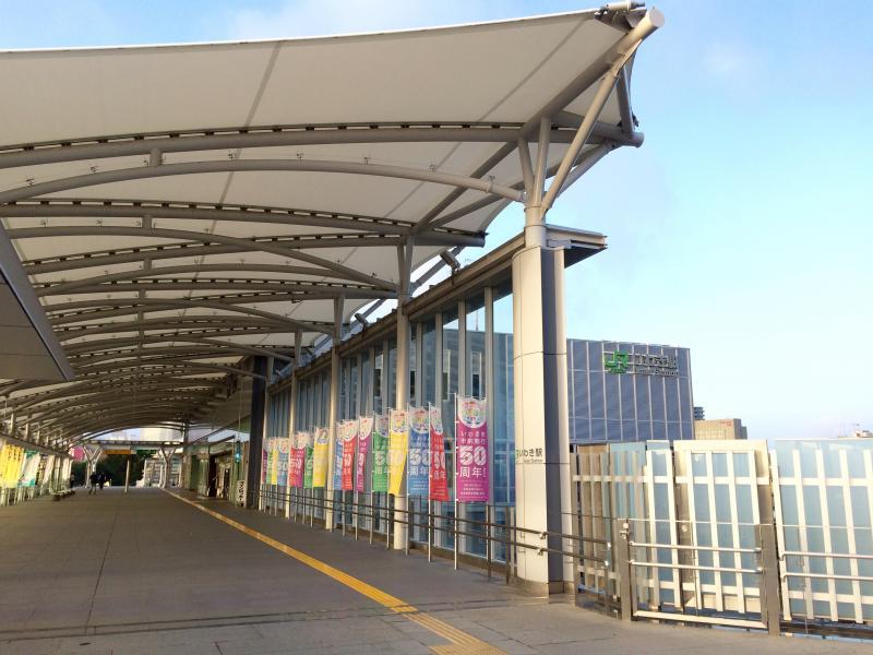いわき駅。北口からの通路。