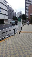 「竜岡門」バス停留所