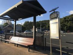 「石岳動植物園前」バス停留所