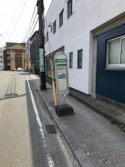 「本妙寺電停前」バス停留所