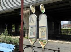 「関越学園通り」バス停留所