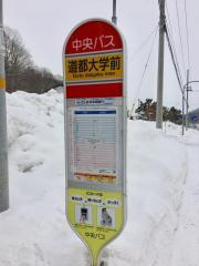 「道都大学前」バス停留所