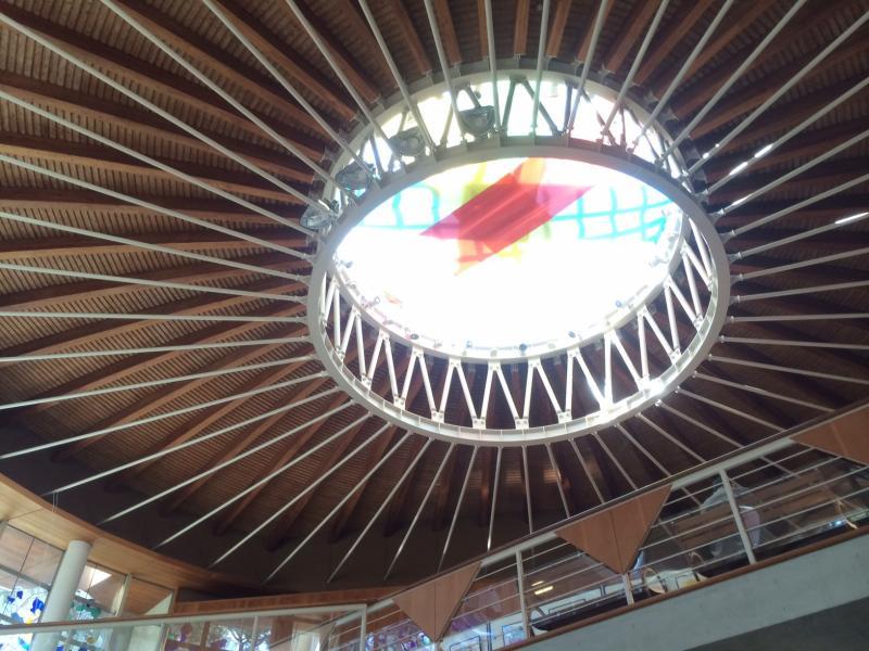 中から見上げた天井