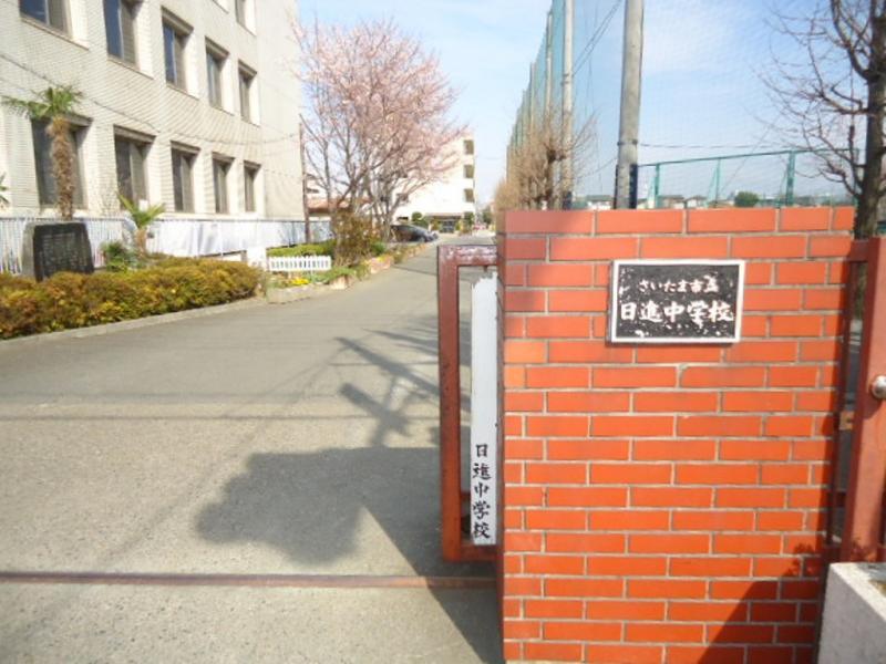 日進中学校正門