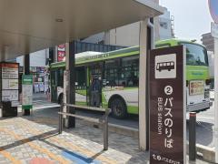 「草加駅西口」バス停留所