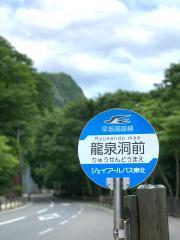 「龍泉洞前」バス停留所