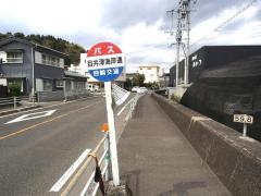 「目井津海岸通り」バス停留所