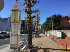 「田向公園」バス停留所
