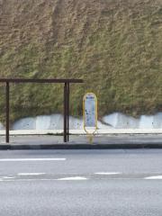「第二辺野古」バス停留所