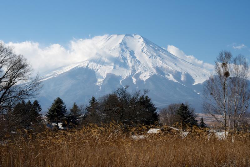 忍野村の風景